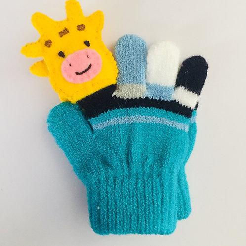 Giraffe puppet gloves