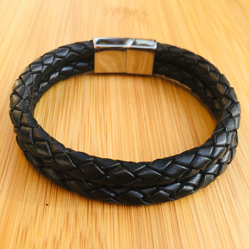 Two cords braided slide clasp