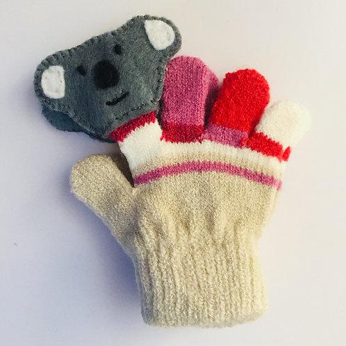 Koala puppet gloves