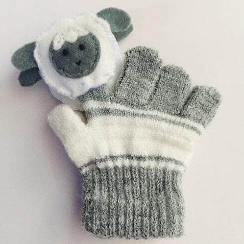 Sheep puppet gloves