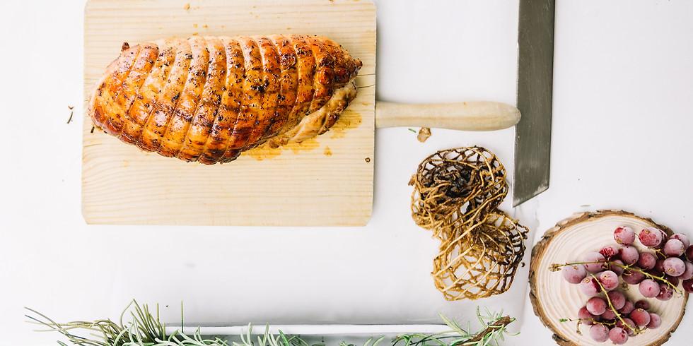 FREE House Smoked Turkey Tasting: Smoked Turkey, Biscuits, & Gravy