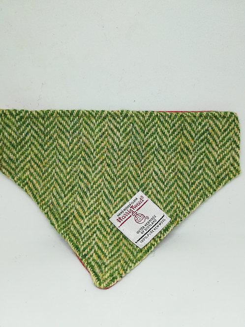 Green Herringbone bandana
