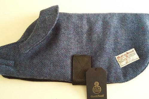 Blue Barleycorn Tweed Dog Coat - Small