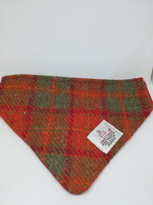 Orange/red and green check bandana