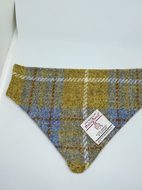 Mustard and Blue check bandana