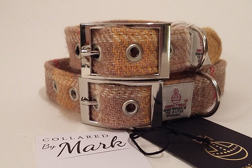 The mustard tweed collar and lead set