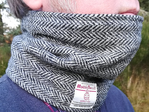 Black /grey Herringbone neck cowl
