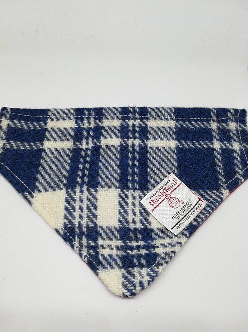 Blue and white bandana