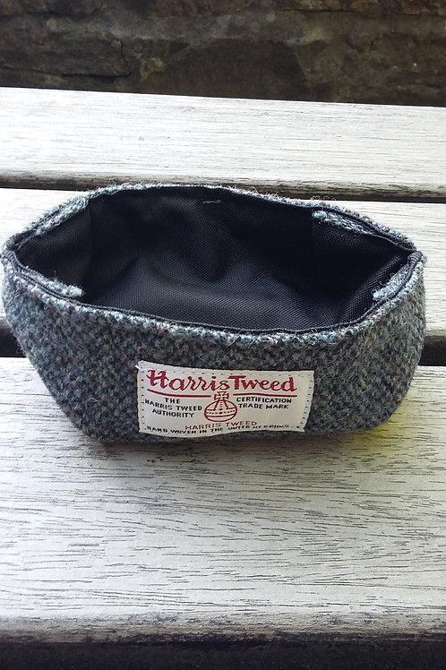 Grey marl Harris Tweed bowl