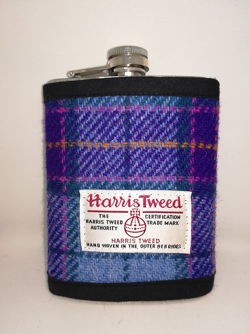Purple and blue hip flask