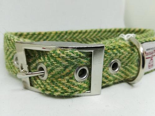 The Green Herringbone Tweed collar