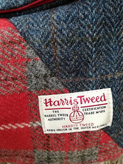 Harris Tweed cross body bag - Reds and blues