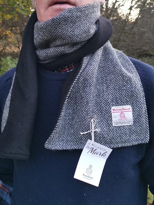 Black grey herringbone  scarf