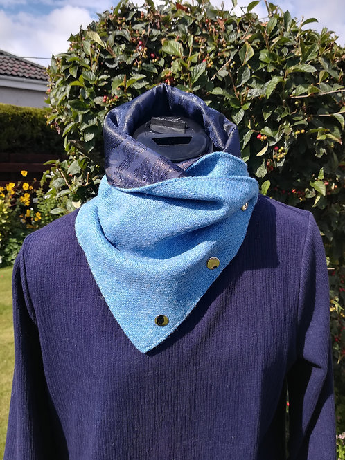 Blue Ladies neck cowl /wrap /scarf