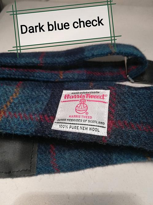 Dark Blue Harris Tweed Guitar strap