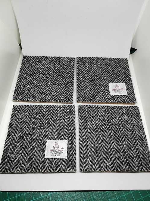 Black Herringbone coaster