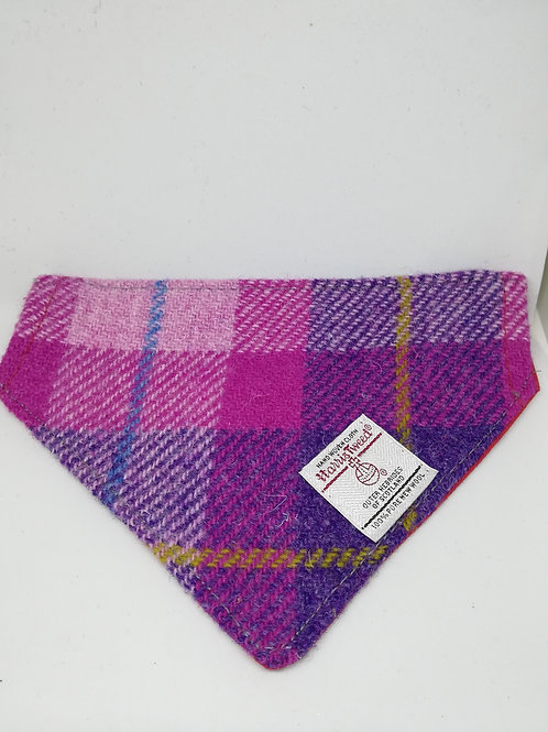 Pink and purple check bandana