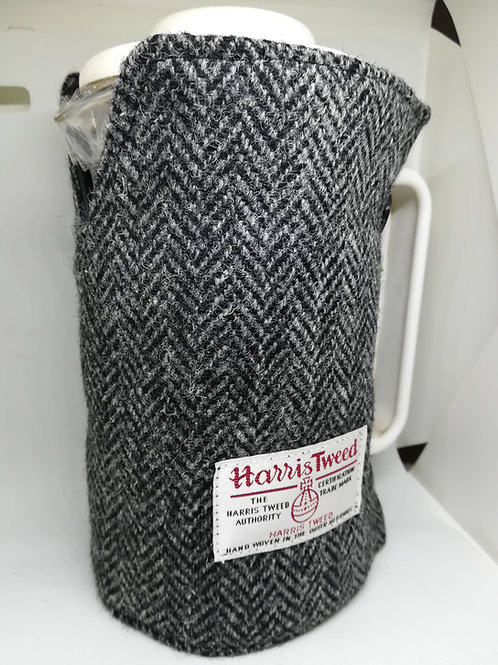 Black Herringbone coffee pot cosy
