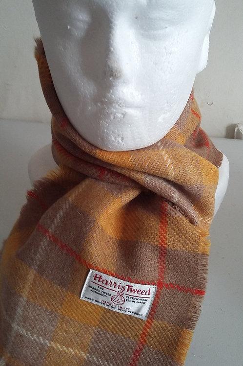 Mustard check scarf