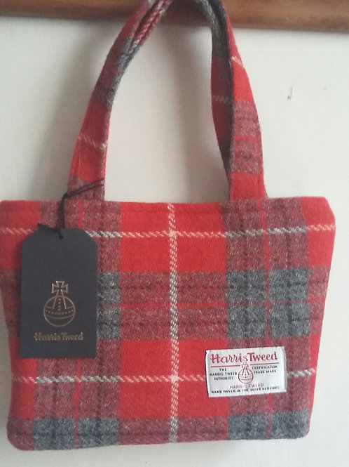 Red check ladies handbag