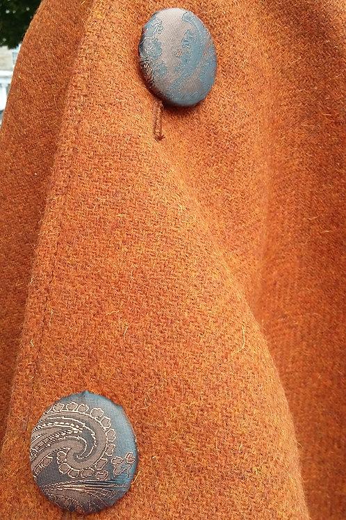 Rust/ bronze poncho