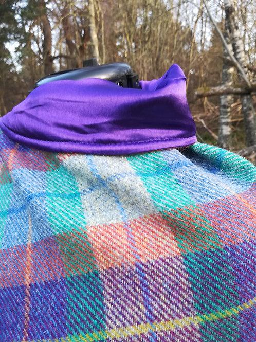 Orange, Purple, greens and blues poncho
