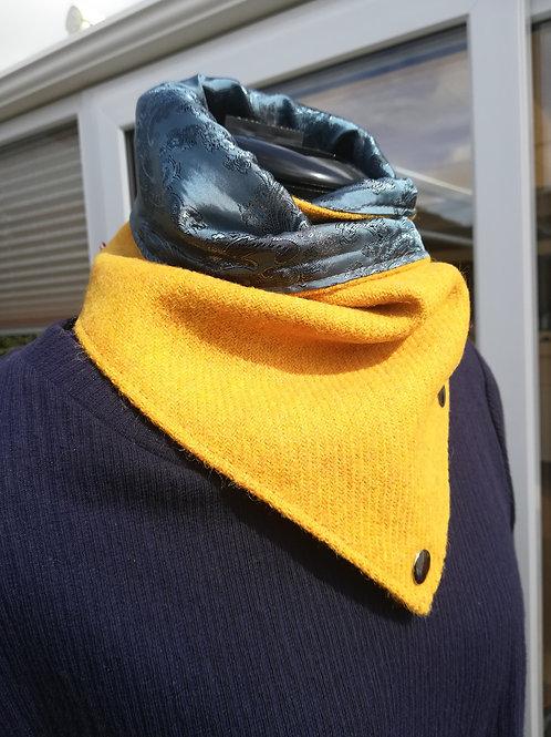 Citrus Yellow ladies neck cowl /wrap /scarf