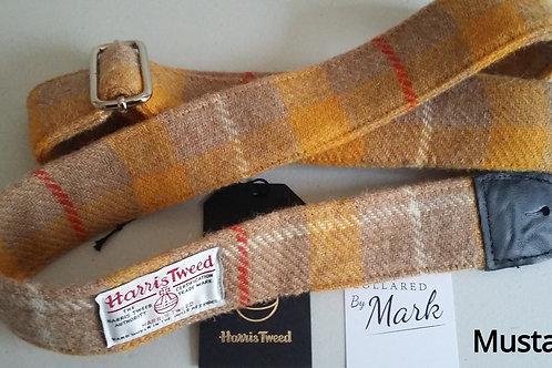 Mustard check Harris Tweed Guitar strap
