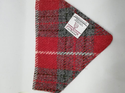 Red and Grey check bandana
