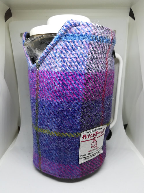 Pink and blue check coffee pot cosy