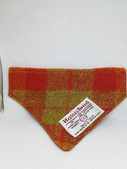 Orange check bandana