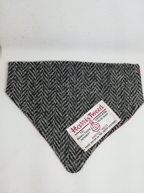 Black grey Herringbone bandana