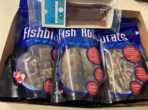 Fish variety Dog Treat Box