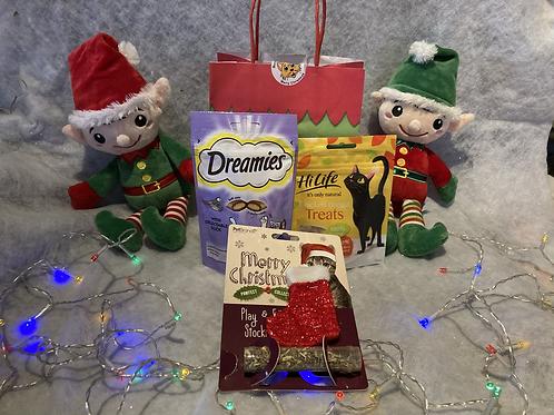 Christmas Cat Gift Bag