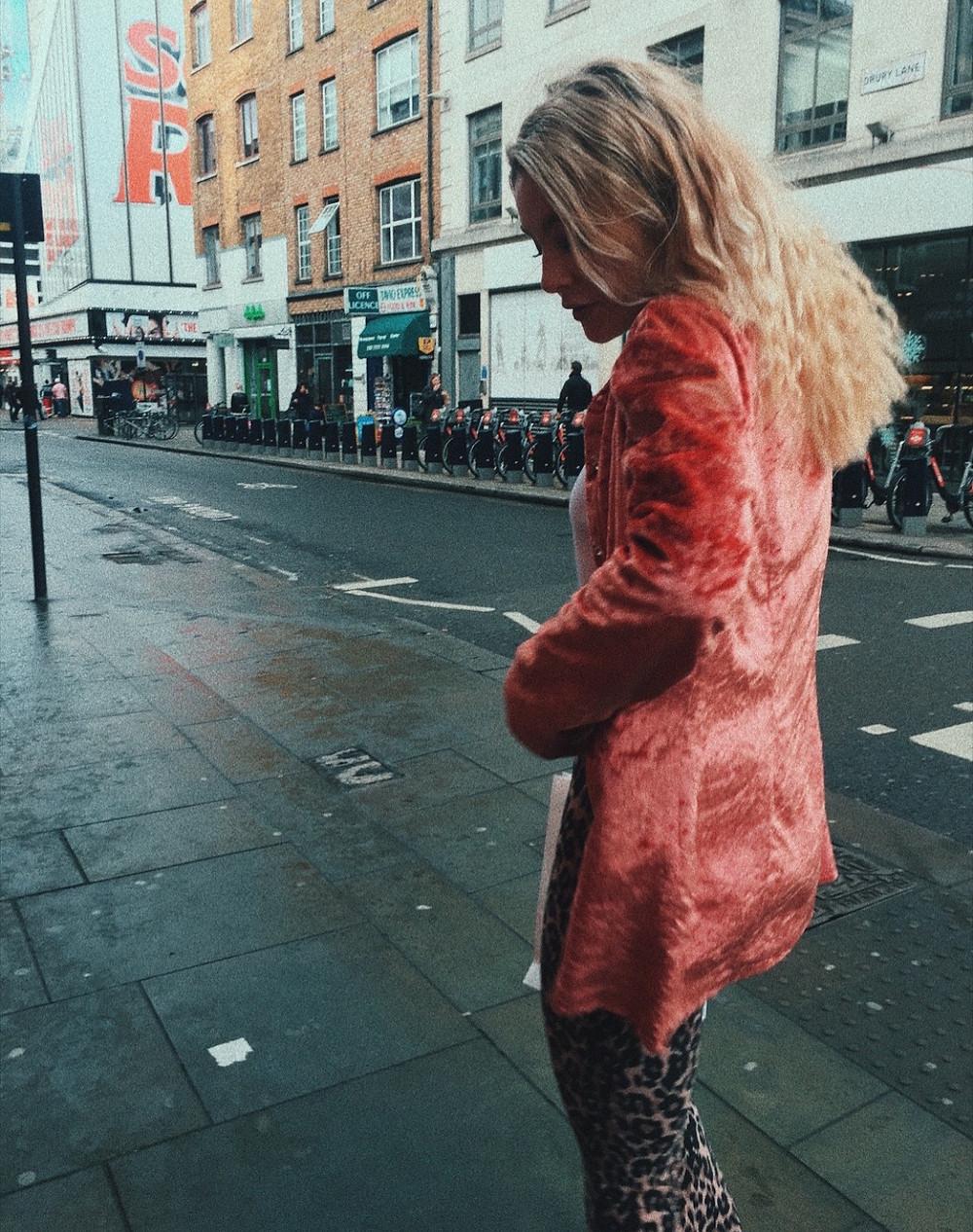 velvet jacket and leopard flares