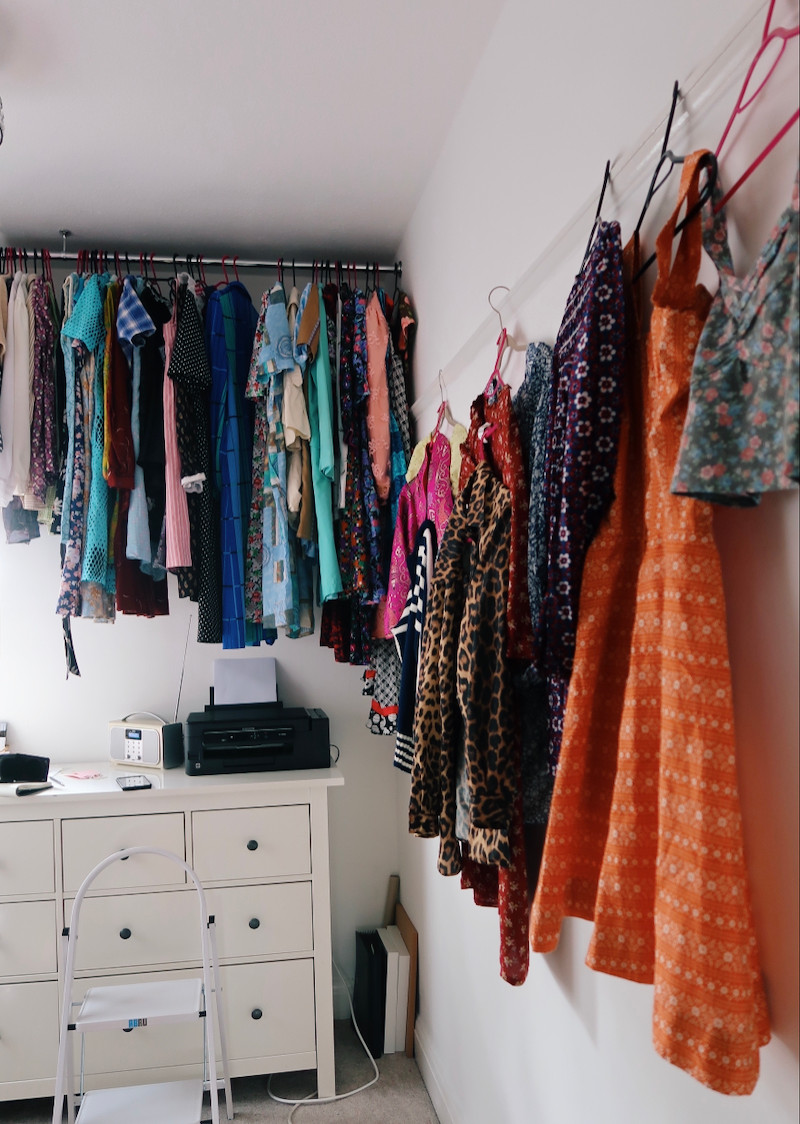 Clothes hung up in the YBV office