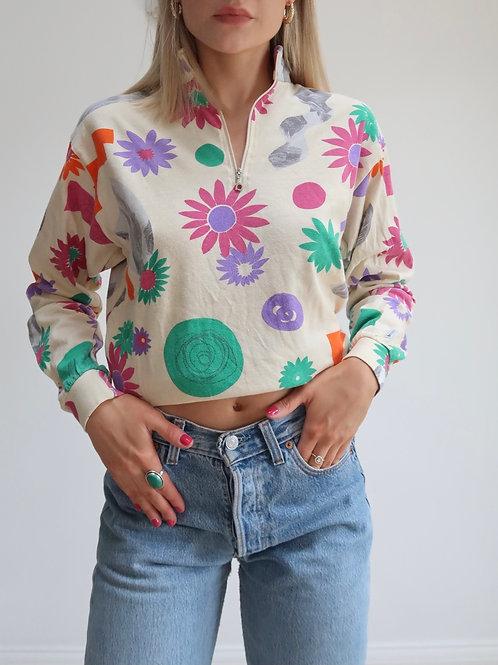 The Cindy funky quarter zip sweatshirt