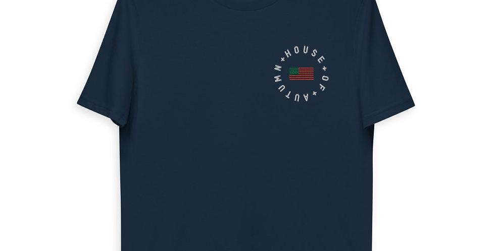 House Of Autumn RBG American Flag Organic Cotton Work T-shirt