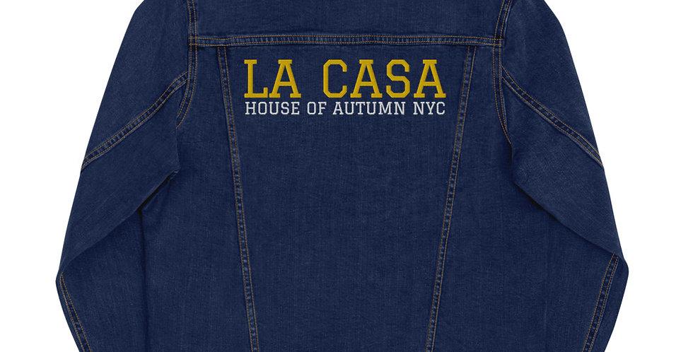 House Of Autumn 'LA CASA' NYC Unisex Denim Jacket (BLK/GLD BLU/GLD)
