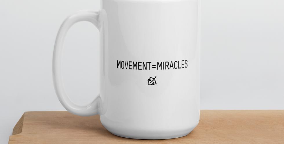 Movement=Miracles White glossy mug
