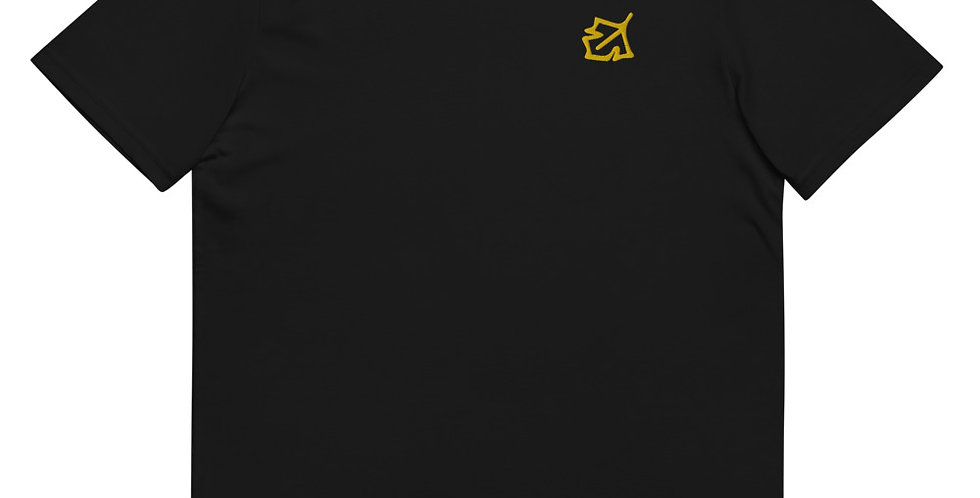 House Of Autumn Gold Leaf Embrodery Unisex organic cotton t-shirt