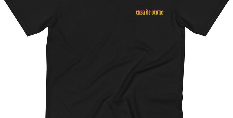 Casa De Otono (GLD/FLAMINGO) (Embroidered) Organic T-Shirt