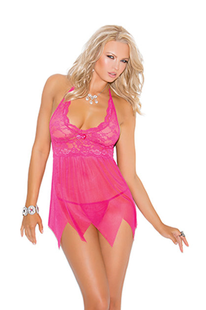 Gracie Lace And Mesh Babydoll