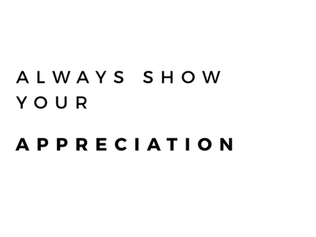Show Appreciation For Each Other Everyday