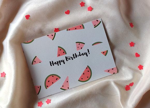 Watermelon - Happy Birthday Card