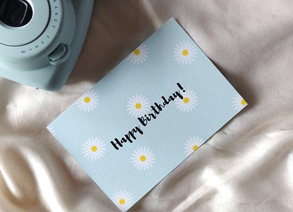 White Flower - Birthday Card