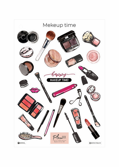 "Наклейки ""Makeup time"""