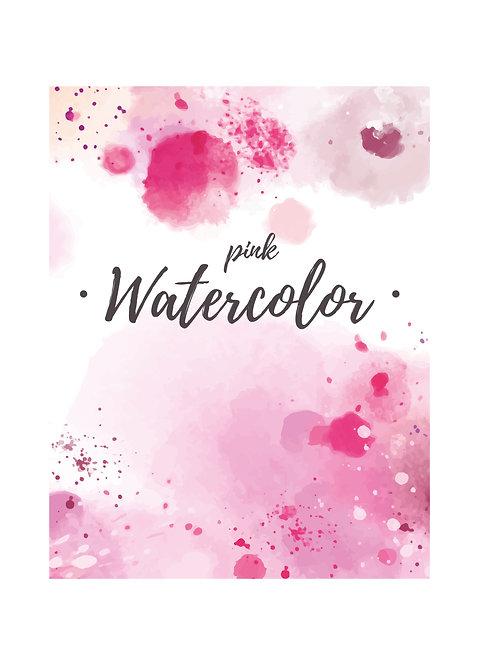 """Еженедельник-трансформер MEDIUM на год """"Pink Watercolor"""""""