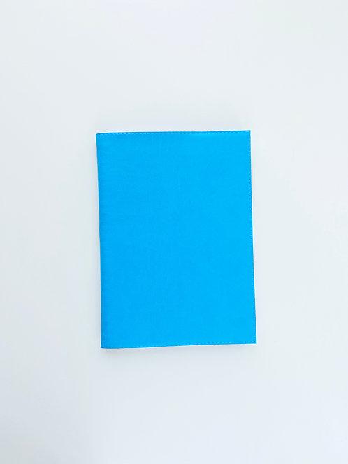 """Обложка из экокожи для планеров SMALL """"Голубая"""""""