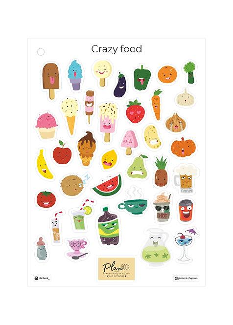 """Наклейки """"Crazy food"""""""